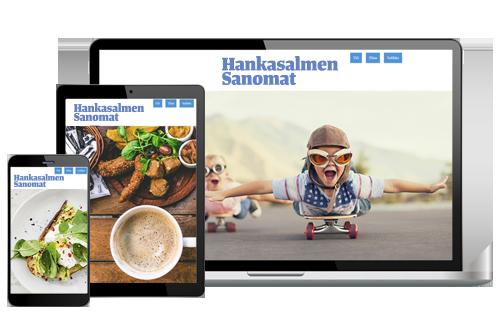 Hankasalmen Sanomien Digitilaus alk. 6,50 €/kk
