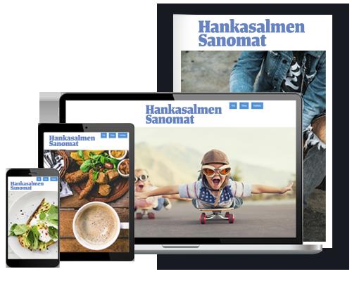 Hankasalmen Sanomat + KSML.fi-verkkopalvelu alk. 8,67 €/kk
