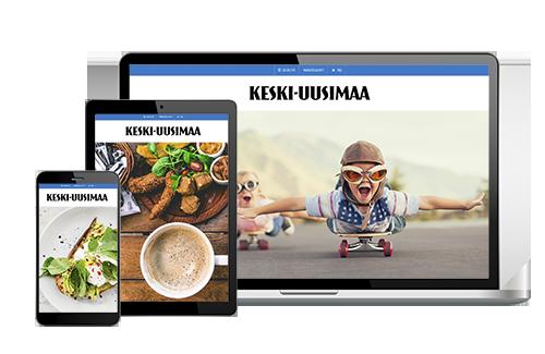 Tilaa Keski-Uusimaa VerkkoPlus ystävälle 1 kk maksutta + 3 kk -50 % hintaan 7,10 €/kk